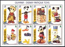 Guyana 1996 Antique Disney Toys/FIRE FIGHTER/Mickey/Donald/Cartoons 8v sht b432