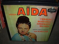 KARAJAN / TEBALDI / VERDI aida ( classical ) 3lp box - london A 4345 -