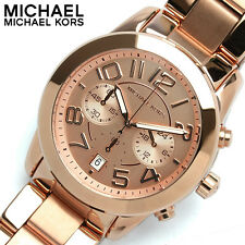 NEW WOMENS MICHAEL KORS (MK5727) MERCER ROSE GOLD CHRONOGRAPH WATCH