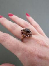 Vintage Sterling Silver Gilt Garnet Ring