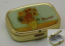 Pill box pill box with mirror van Gogh sunflowers Pill Box