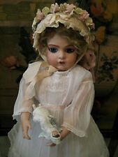 ANTIQUE REPRO ANGEL ONLY 4 ANY FRENCH BISQUE HEAD BRU DOLL ANGEL ORNAMENT ONLY