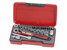 Teng Tools SUPER SALE T1424 24 Piece 1/4 Drive Socket Ratchet Extension Tool Set