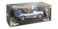 HOT WHEELS ELITE 1/18 FERRARI 360 MODENA SPIDER TITIANIUM BLUE ITALIAN JOB P9905