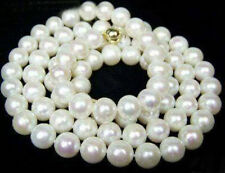 "round 18"" AAA 6-5 MM SOUTH SEA NATURAL White PEARL NECKLACE 14K GOLD  CLASP"