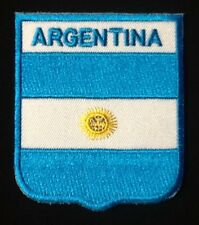 ARGENTINA NATIONAL FLAG BADGE IRON SEW ON PATCH CREST SHIELD BACKPACKER