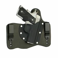 FoxX Leather & Kydex IWB Holster Kimber 1911 Ultra Carry II & TLE II Black Right
