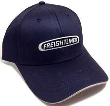 BLACK FREIGHTLINER TRUCKS HAT CAP ADJUSTABLE LOGO RUN SMART CURVED BILL RETRO