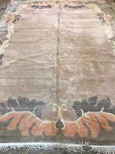 Retro Art Deco Modern Nepalese Rug Size:370x270  Cm RUG CARPET Handmade Wool
