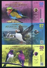 SET Atlantic Forest 26;27;28 Aves Dollars 2016 - 3 Note Bird Set