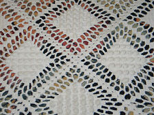 Gorgeous Antique Hand Made Popcorn Crochet Lace Bedspread Tablecloth c1900