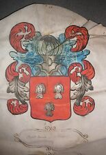 ARMOIRIES LE PENNEC.De Gueules à 3 Bustes de Femmes dArgent échevelées d'Or.1660