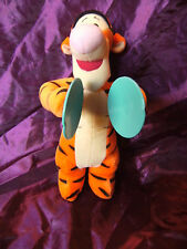 "Fisher Price Disney  Singing Cybol playing 11"" Tigger Soft Toy"