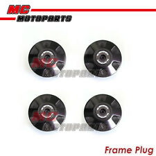 4pcs Black CNC Billet Frame Plugs Set For Ducati Scrambler 2015-2016