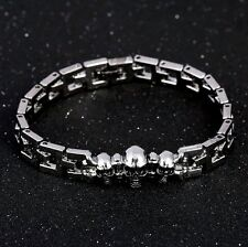 Stainless Steel Skulls Chain Link Men's Bracelet