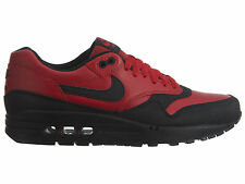 Nike Air Max 1 Ltr Premium Mens 705282-600 Gym Red Black Running Shoes Size 8