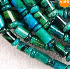 "6x9mm Azurite Chrysocolla Gem Column Loose Bead 15"" H999"