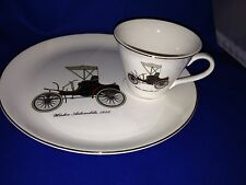 Salem China Named Dated Antique 1898 Winton Automobile Cup & Plate