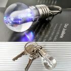 Colourful Bulb Light Key Chain Keyring Night Emergency Lamp Acrylic 2015 Punk