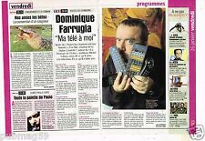 Coupure de Presse Clipping 2001 Dominique Farrugia