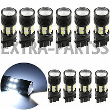 10X 3157 White 6000K Back Up Reverse Projector +12-SMD Chip LED Lights Bulbs
