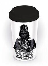 Star Wars The Force is Forte Ceramica Viaggio Tazza Con Tappo In Silicone