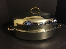 Command Performance Roaster Pan with Vented Lid & Lifting Liner 18/10 3 Ply Base