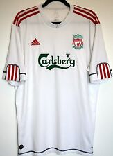 "EX! Liverpool FC 2008/2009/2010 XL 46 - 48"" WHITE 3rd Away Shirt ADIDAS CAMISETA"