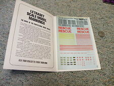 Letraset decals Dry transfers 1/72 M34 Canadian RCAF rescue etc  E129