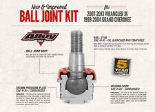 Alloy USA Ball Joint Kit 11800 Jeep Wrangler JK 02-12 & Grand Cherokee WJ 99-05