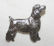 Cocker Spaniel Pet Clip Dog Fine PEWTER PIN Jewelry Art USA Made