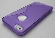 Purple Apple iPhone 5 Soft Rubber Gel Case Cover Skin Shell iPhone5 i phone 5s