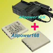 Battery + Charger For Pentax Optio WP WPi X W10 W20 D-LI8 NP-40 FUJI FINEPIX