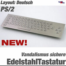 NEW STAINLESS STEEL VANDAL-PROOF KEYBOARD IP65 GERMAN STAHL PS/2 DIN ANTI VANDAL