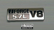 07-15 TOYOTA TUNDRA iFORCE 5.7L V8 EMBLEM BADGE  OEM BLACK CHROME NEW