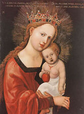 Oil painting denys van alsloot - mary with the child holding apple no framed art