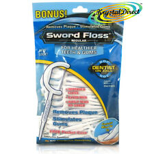 Dentemp Sword Floss Tooth Dental Pick Toothpicks REGULAR