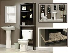 Bathroom Storage Cabinet Tall Linen Towel Over Toilet Wood Cupboard Organizer