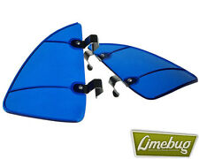 VW Window Wind Deflector Breezes Air Blue Quarter Light Beetle Hotrod Camper T1