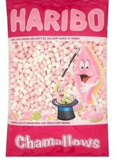 HARIBO PINK & WHITE MINI MARSHMELLOWS 1KG BAG CHAMALLOWS SWEETS CONFECTIONARY