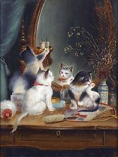 Kittens in the boudoir Tile Mural Kitchen Bathroom Wall Backsplash Ceramic 6x8