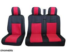 RED BLACK FABRIC SEAT COVERS 2+1 FOR IVECO DAILY NEW