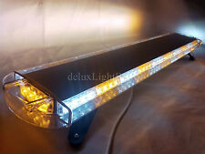 "42"" 80 LED LIGHT BAR EMERGENCY BEACON FLASH TOW TRUCK PLOW RESPONSE AMBER&WHITE"