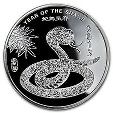 1/2 oz Münze 999 Silber Silver Lunar Jahr der Schlange Year of the Snake 2013
