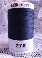 NEW 1 Navy Blue GUTERMANN 100% polyester Sew-All thread 547 yards Spool