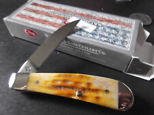 "CASE XX 3 3/16"" DEEP CANYON GOLDEN ROD BONE SWAY BACK GENT POCKET KNIFE CA49995"