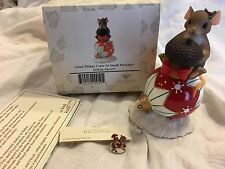 "Charming Tails ""GOOD THINGS COME IN SMALL PACKAGES"" DEAN GRIFF CHRISTMAS W/ MINI"
