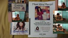Idina Menzel Holiday Wishes Signed Broadway Tony Music Flyer Pic CD Rent If/Then