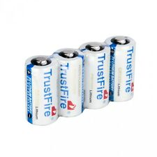 4pcs TrustFire CR123A 1400mAh 3.0V Non-Rechargeable Li-ion Battery White