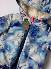 Baby Girl BNWT Winter Warm Unicorn Print Jacket NEXT Age 2-3 Years